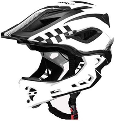 BMX Casco Infantil Integral para Ciclismo Enduro Totalmente Ajustable con Mentoner Desmontable Tama/ño Ajustable Entre 48-58 cm
