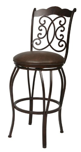 (Athena 30 Barstool In Autumn Rust Upholstered In Florentine Coffee - Pastel QLAH225239649)