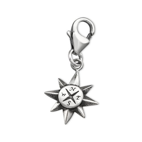 925 Sterling Silver Compass Charms with Lobster