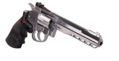 Crosman CRVL357S Co2 Powered 6 Shot Revolver Air Pistol (Dan Wesson Revolver Airsoft Gun)