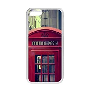 XiFu*MeiWelcome!iphone 4/4s Cases-Brand New Design telephone booth Printed High Quality TPU For iphone 4/4s 4 Inch -02XiFu*Mei