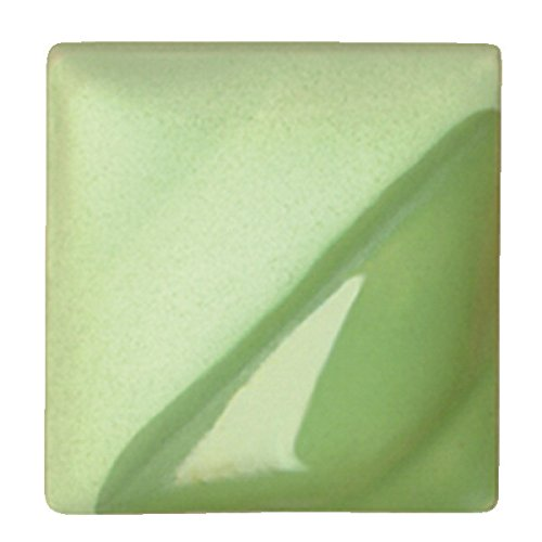 AMACO Velvet Lead-Free Non-Toxic Semi-Translucent Underglaze, 1 Pint, Light Green V-345