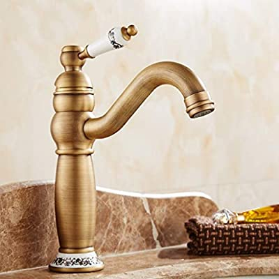 Hot and Cold wash Basin Faucet with Retro European Style Retro Style Copper Sink 22 15.5cm