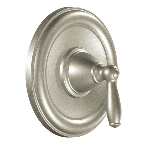 Moen T2151BN Brantford Posi-Temp Pressure Balancing Traditional Tub and Shower Valve Trim Kit Valve Required, Brushed Nickel - Nickel Pressure Tub