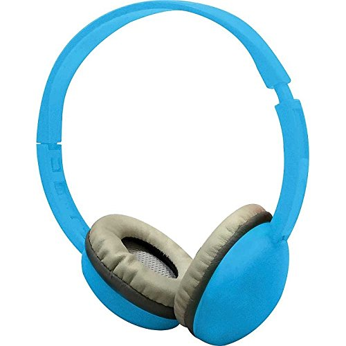 Coby CV-H821BLU Color Kids Headphone w/Mic CVH821 Blue