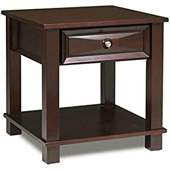 Mason End Table In Dark Cherry Finish