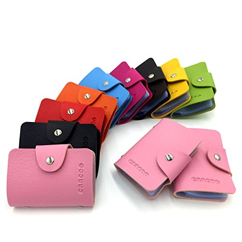 Colours Credit 9 Card Slots Card 24 Bank Men Card Holder Card Pink Case Women for Holder dpqqrA5