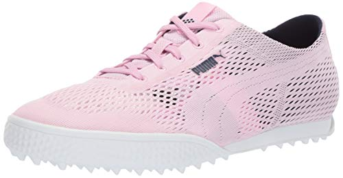 PUMA Golf Women's Monolite Cat Woven Golf Shoe Lilac Sachet-Peacoat 8.5 M US