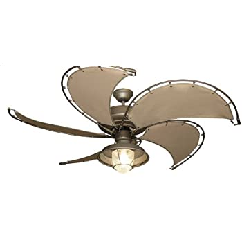 Raindance Nautical Ceiling Fan In Brushed Nickel With 52