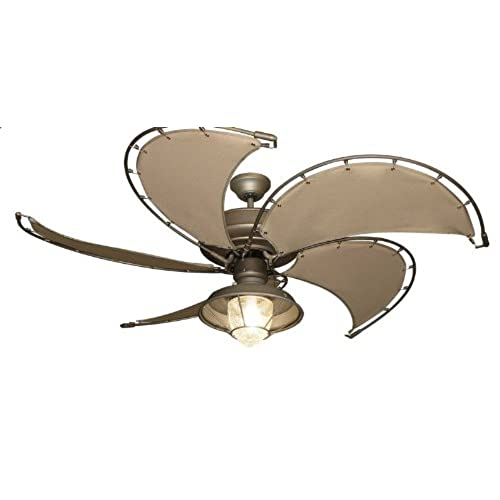 nautical ceiling light dining room raindance nautical ceiling fan in antique bronze with khaki canvas spring frame blades and light light amazoncom
