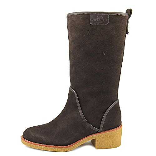 Mid Toe Womens Boots Chestnut Closed Palmer Fashion Calf Suede Coach wAqgIOnxO