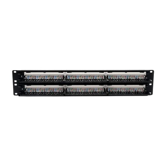 Tripp lite n250-012 12-port cat6 wall-mount vertical 110 patch panel 4 12 port category 6 (cat6/cat5 rj45) vertical wall mount patch panel color coded label on back offers both eia/tia 568a & 568b wiring ports are clearly numbered both on front and back; labels on front enable each port to be named