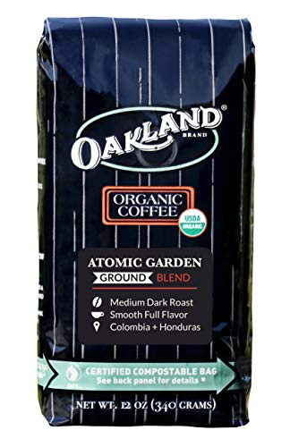 Oakland Coffee Works, Organic, Atomic Garden Blend, Certified Compostable Bag, Ground, 12 Ounce
