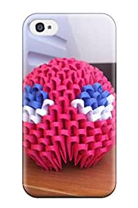 New D Origami Tpu Skin Case Compatible With Iphone 4/4s