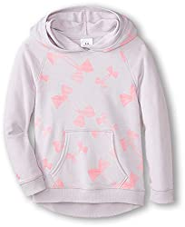 Under Armour Girls' Kaleidelogo Hoodie, Youth X-Small, True Gray Heather