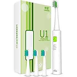 Sonic Brush Electric Toothbrush USB Rechargeable Ultrasonic Presented 4 Toothbrush Heads Brush Sets Whitening Teeth