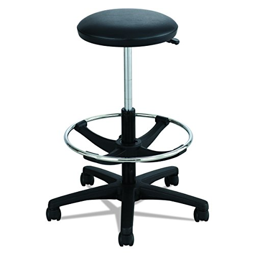 Safco Products 3436BL Extended Height Lab Stool, Black