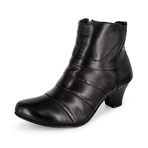 Claudia Ghizzani Damen Stiefelette Leder schwarz
