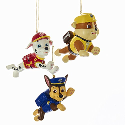 Kurt Adler 2.5-Inch Paw Patrol Christmas Ornament Set of 3