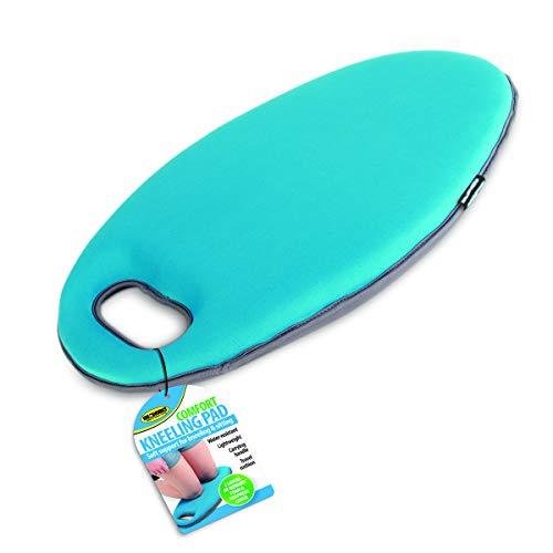 IdeaWorks - Comfort Kneeling Pad - Two Layer Memory Foam - Lighweight - Built-in Carrying Handle – Blue