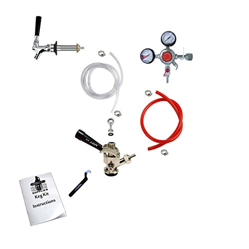 HomeBrewStuff Door Mount Kegerator Conversion Kit w/Sanke Coupler, and Pro Regulator 1CH-D-PR