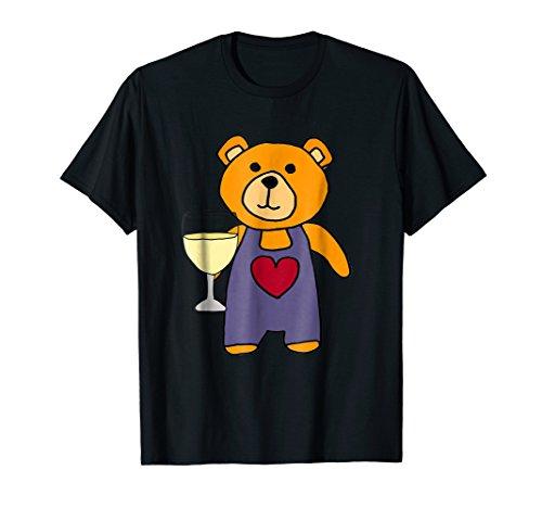Wine Drinking T-shirt - SmileteesAnim Funny Brown Bear Drinking Wine T-shirt
