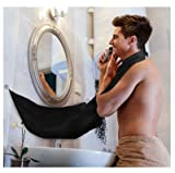 Beard Apron Bib For Man Shaving & Hair Clippings Catcher Grooming Cape Apron Keep Sink Clean - Black