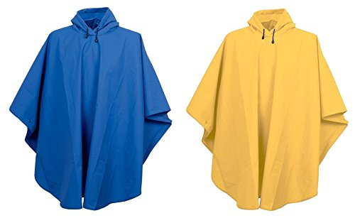 Charles River Apparel Men's Lightweight Hooded Ponchos Set_Royal & Yellow_ONE