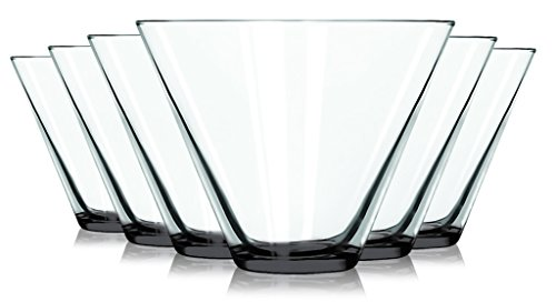 Libbey Black Stemless Martini Glasses with Colored Accent - 13.5 oz. Set of 6- Additional Vibrant Colors Available by TableTop King]()