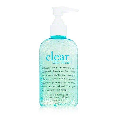 Philosophy Clear Days Ahead Oil-Free Salicylic Acid Acne Treatment Cleanser, 8 Ounce