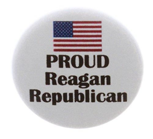A&T Designs PROUD Reagan Republican (American Flag) 1.25