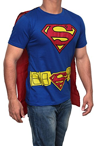 Superman Caped Costume T-Shirt for Men - Choice of Sizes
