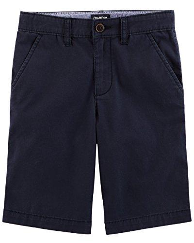 Osh Kosh Boys' Toddler Stretch Flat Front Short, Navy, 2T