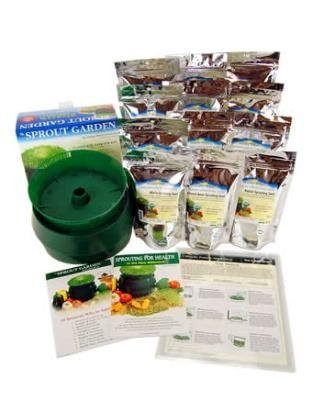 Deluxe Organic Sprouting Kit - 12 Lbs of Sprouting Seeds, Tray Sprouter