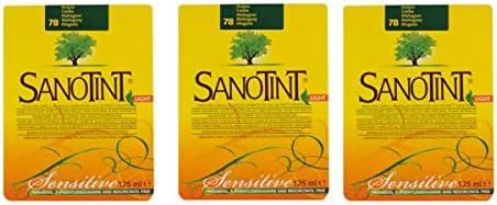 SANOTINT Tinte Sensitive Color 78 Caoba 3 paquetes – 3 x ...