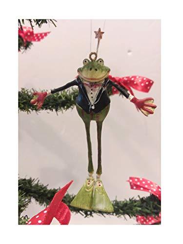 Dept 56 Krinkles Tuxedo Frog Christmas Tree Ornament Rare Retired Figure
