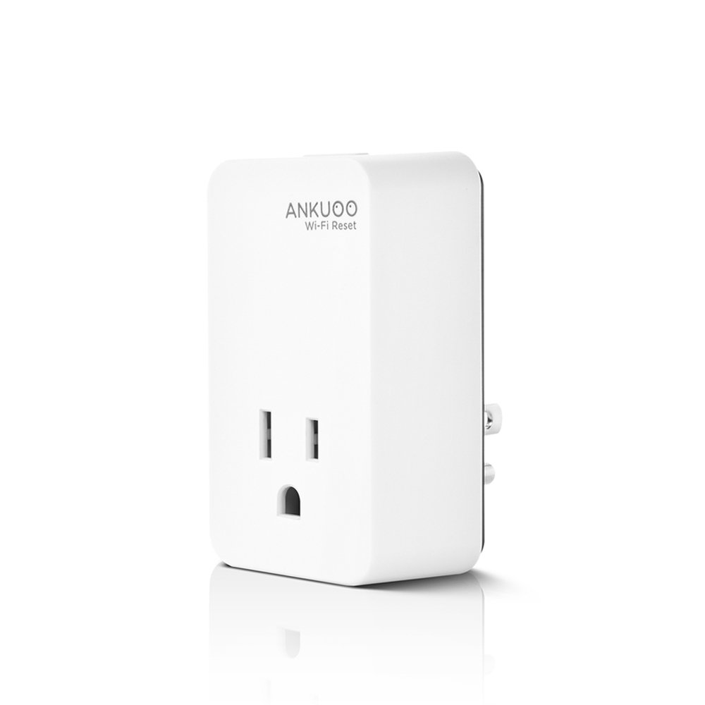 Ankuoo REC Wi-Fi Restarter Monitor Router/Modem/AP and Reset Power if WiFi Fails, 1.75 x 3 x 2.25 inch, White