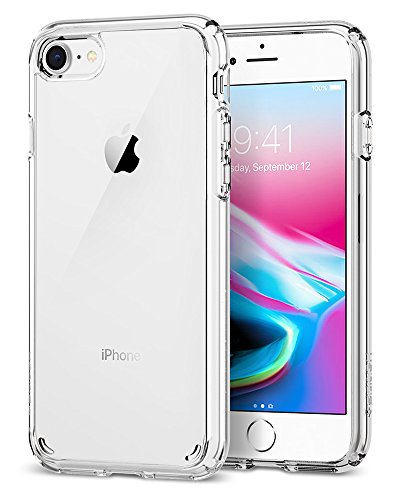 Spigen Ultra Hybrid [2nd Generation] iPhone 7 Case/iPhone 8 Case with Air Cushion Technology for Apple iPhone 7 (2016)/iPhone 8 (2017) - Crystal Clear