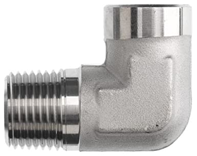 Brennan 5502-04-04-SS Stainless Steel Pipe Fitting, 90 Degree Elbow, 1/4