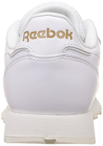 Reebok Men's Classic Leather Alr Low-Top Sneakers, Schwarz/Gold (Black/Chalk/Ashgry/Brass) WHITE/CHALK/SNOWY GREY