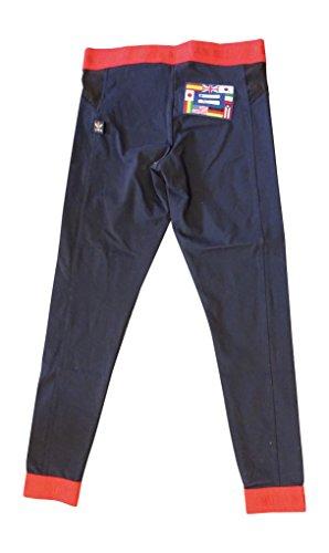 Adidas X Pharrell Williams Menselijk Ras Vrouwen Leggings Broeken Navy Rood Bk4287
