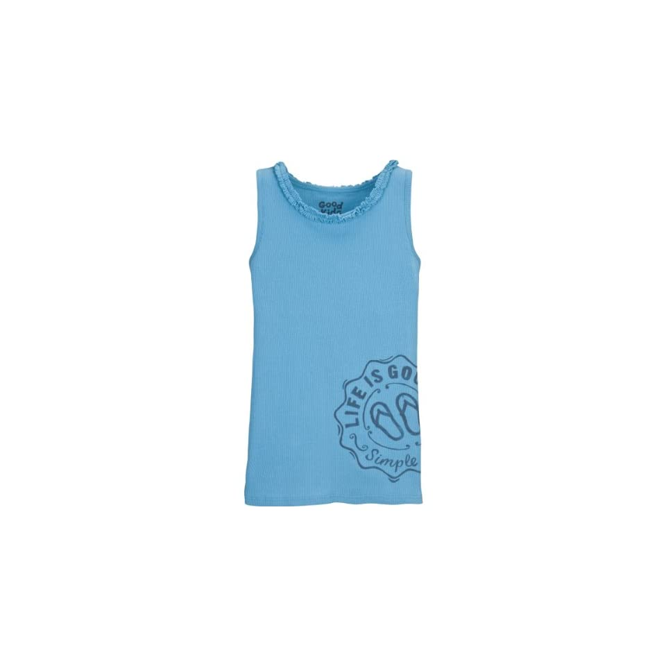 Life is Good Girls Flip Flop Ruffle Tank Sports