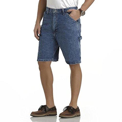 Carpenter Blue Jeans Shorts - Wrangler Men's Premium Denim Carpenter Shorts (40, Dark Blue)