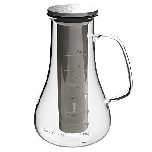 Casa _ Historia Cold Brew cafetera eléctrica jarra - 52 oz ...