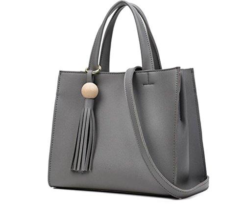 di borsa modo donne a NVBAO elaborazione della delle diagonale spalla dell'unità grey cuoio di della borse delle di Borsa tracolla 6q7SP