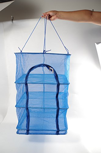 4 Tray Fish Mesh Hanging Drying Net with zipper Food Dehydrator Durable Folding 4 Layers Fish Vegetable Dishes Dryer Net Drying Rack