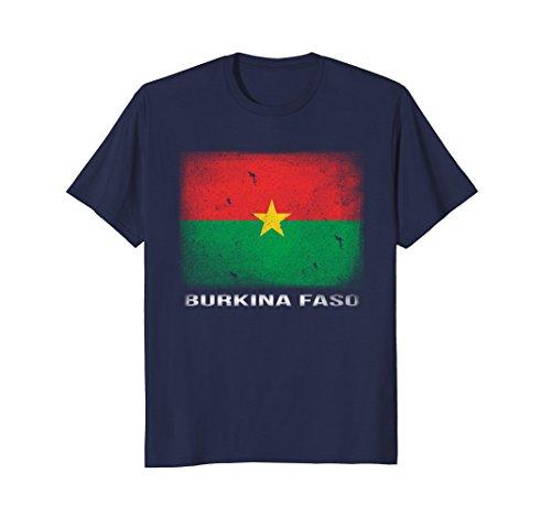 Mens Burkina Faso Flag T-shirt 2XL Navy