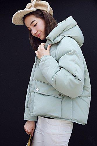 Green Corta Zip La Invierno Hoodie Caliente Parkas Mujer Grueso Outwear Casual Acolchado x4EqEwPY