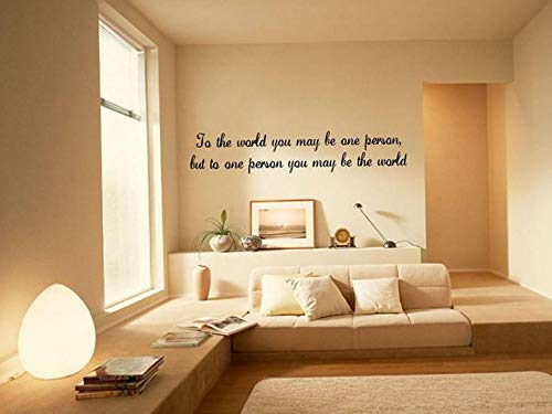Waldenn to The World Home Wall Decor Decal Quote Lettering Saying Words 36 | Model DCR - 1803 -