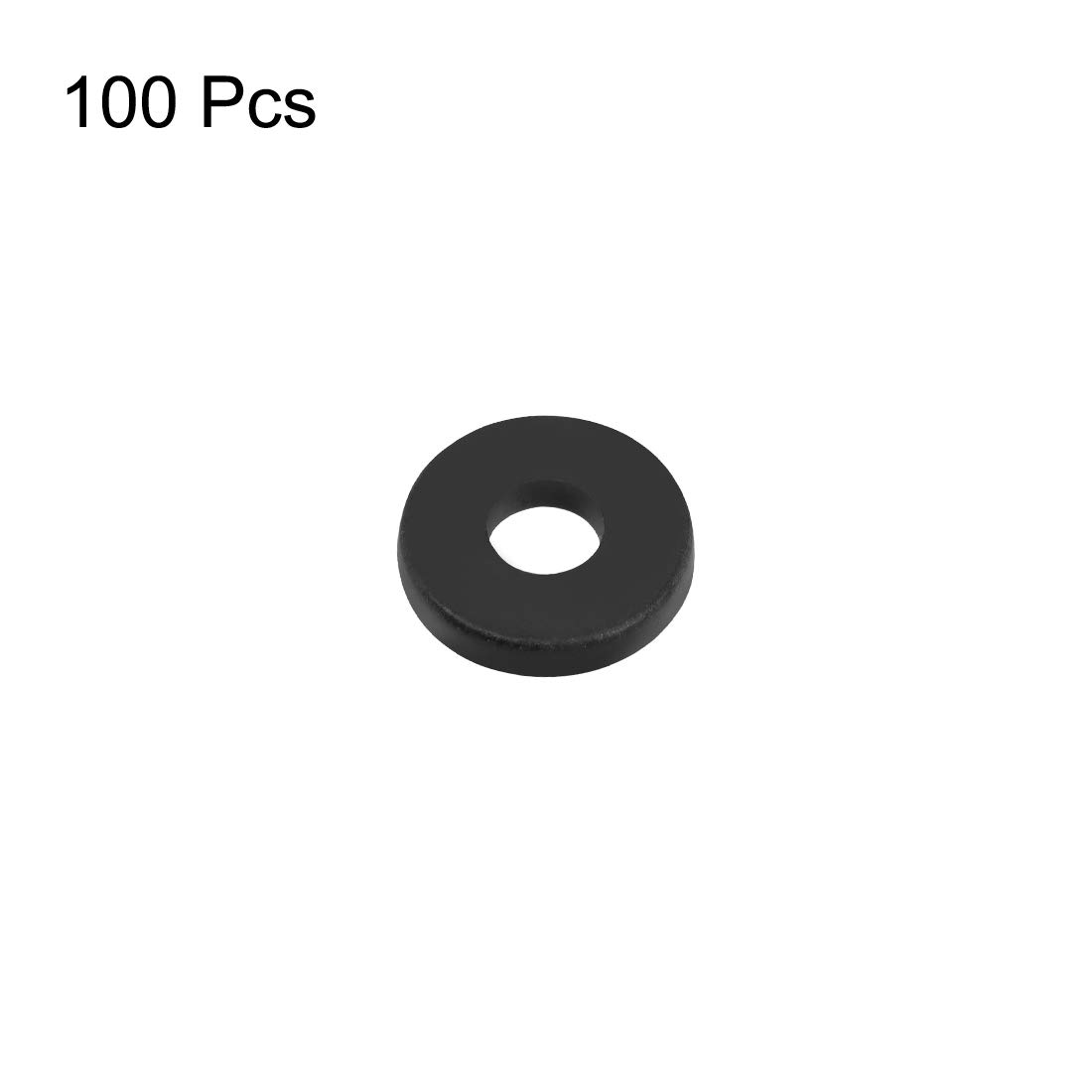 uxcell Nylon Flat Washers for M6 Screw Bolt 12mm OD 1.5mm Thick 100PCS